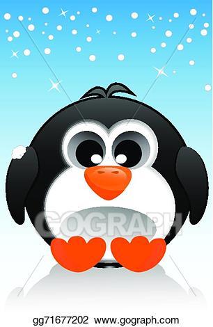 Eps vector illustration stock. Clipart penguin shape