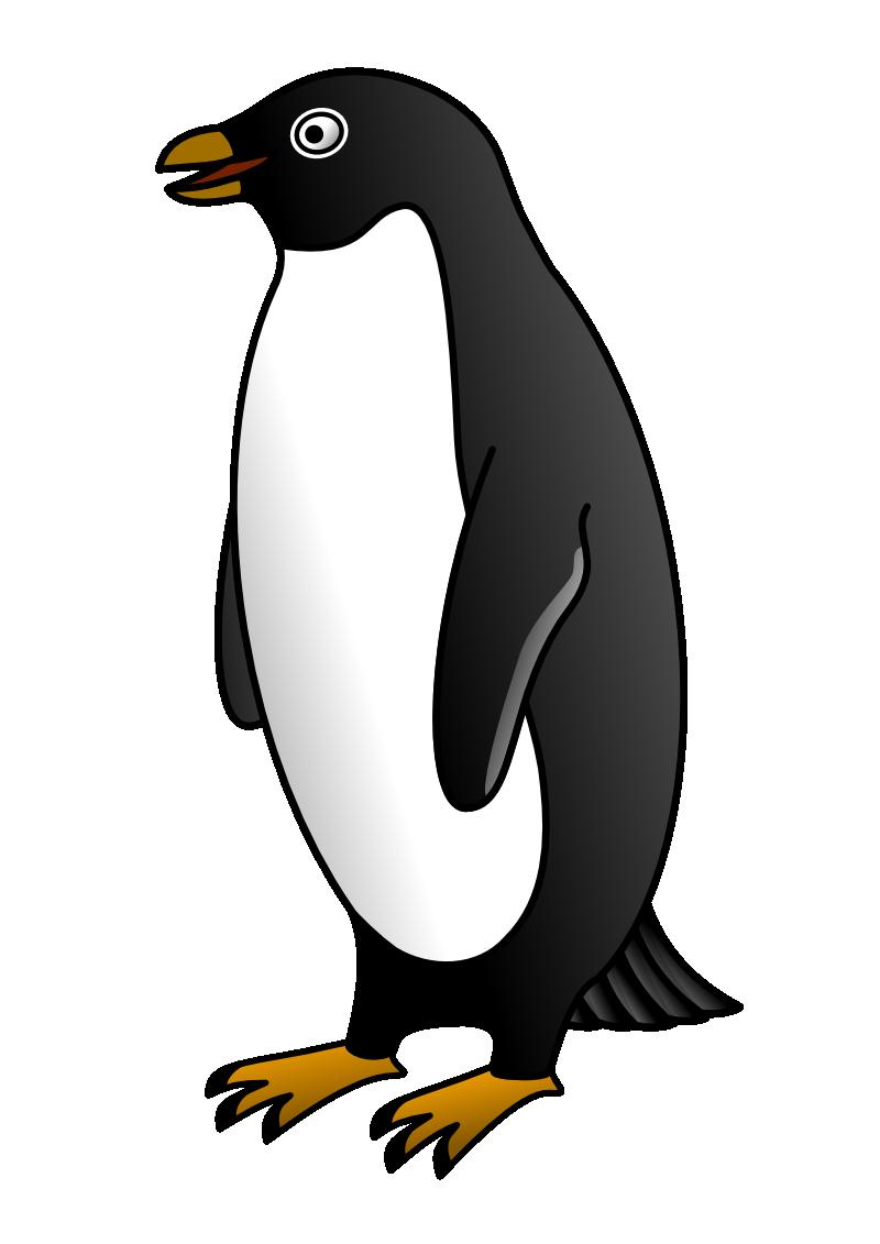 Clipart penquin design. Emperor penguin silhouette at