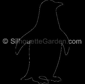 Penguin . Clipart penquin silhouette