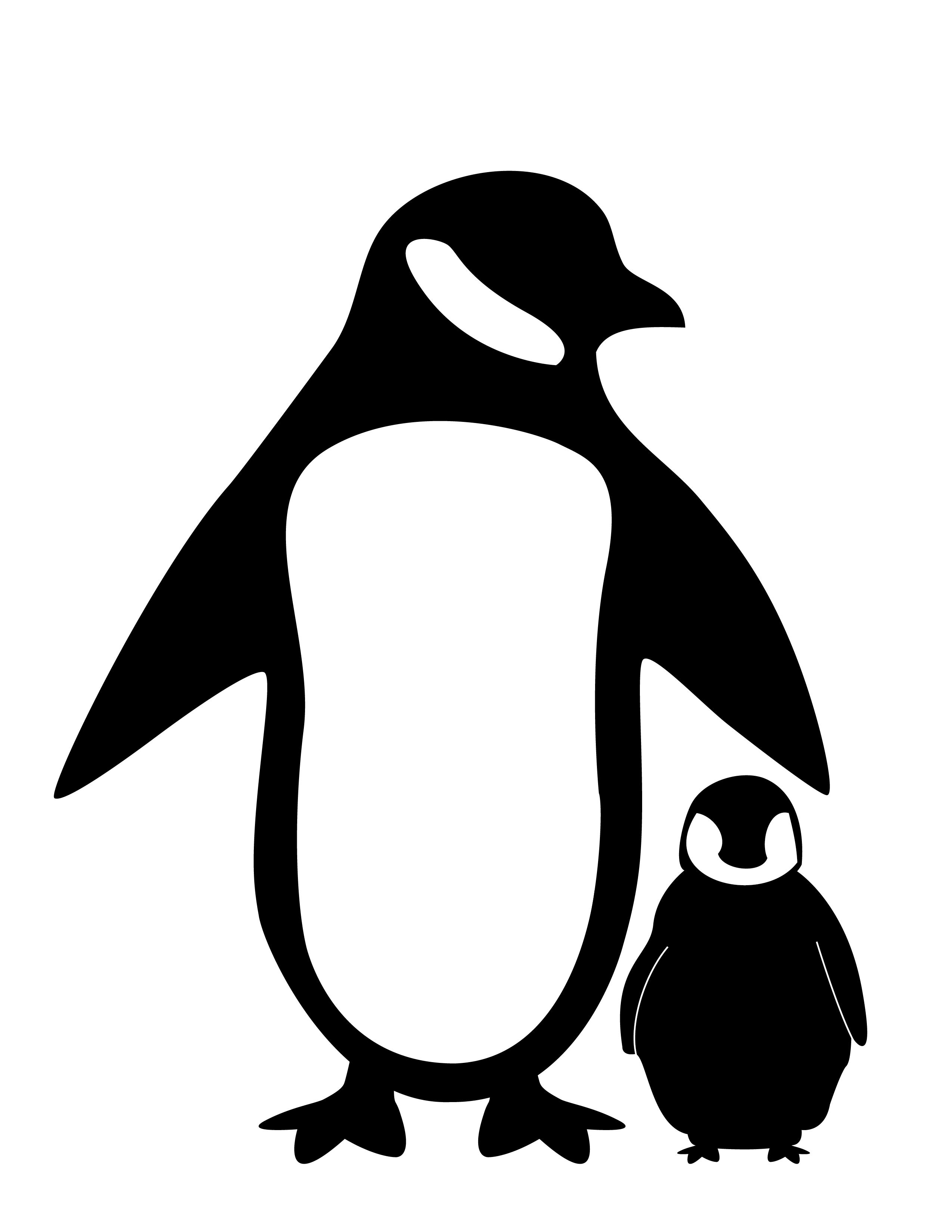 Clipart penquin silhouette. Penguin fc deviantart net