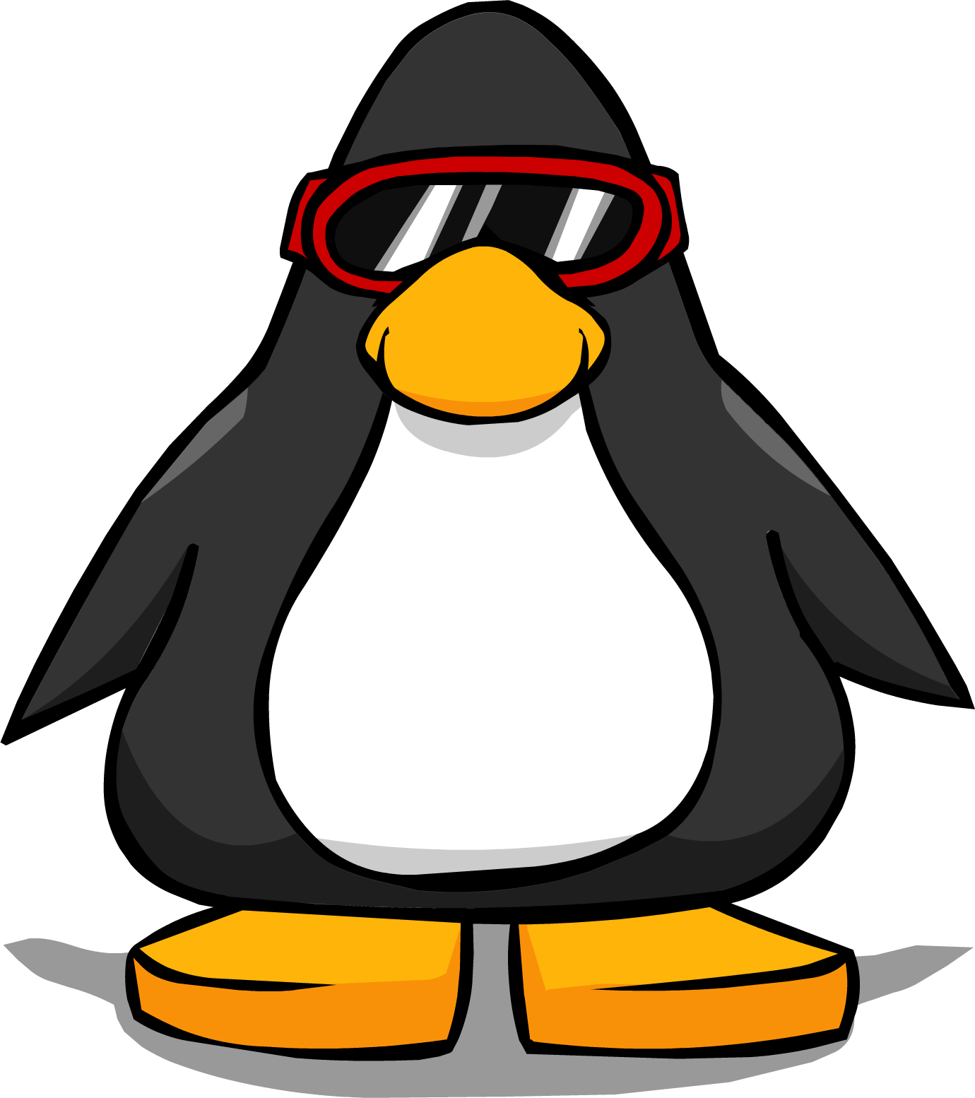 Image red ski goggles. Clipart penquin skiing