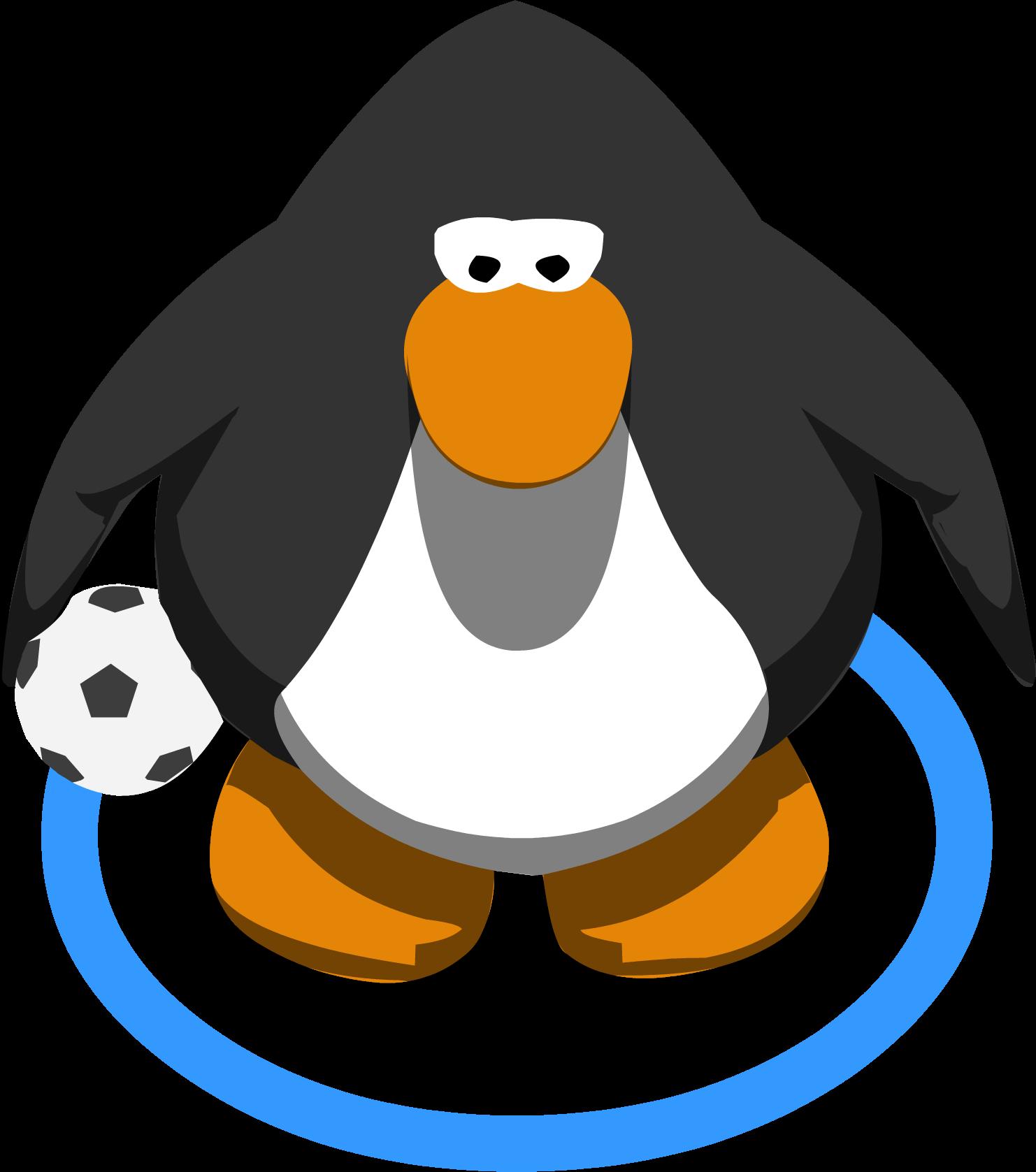 Clipart penguin soccer. Image ball in game