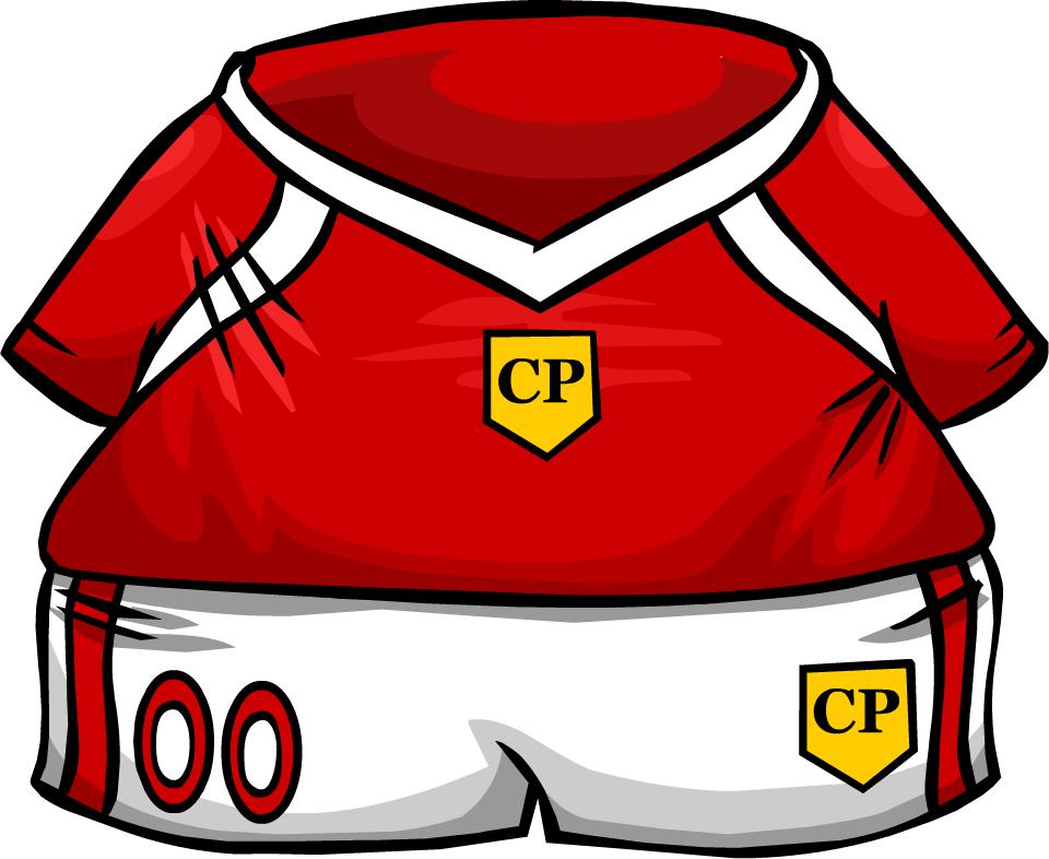 Clipart penguin soccer. Red jersey club rewritten