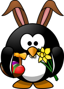 Easter penguin png svg. Clipart penquin spring