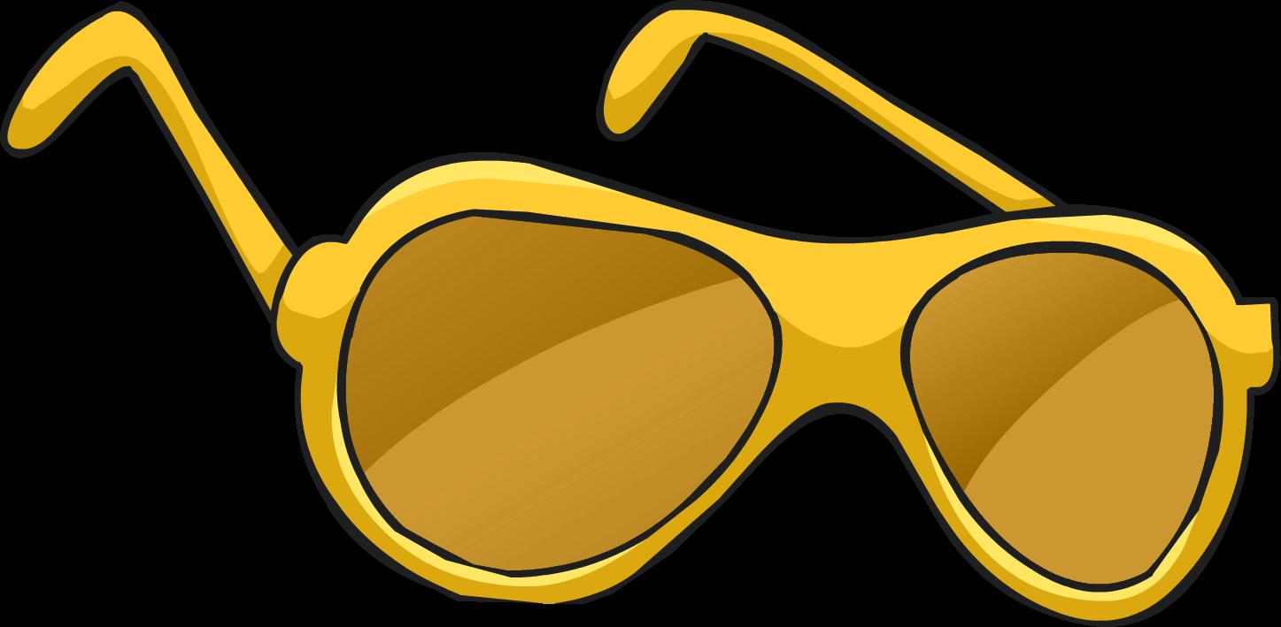 Golden shades club penguin. Clipart sunglasses diva