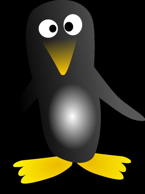 Free stock photo illustration. Clipart penguin swimming