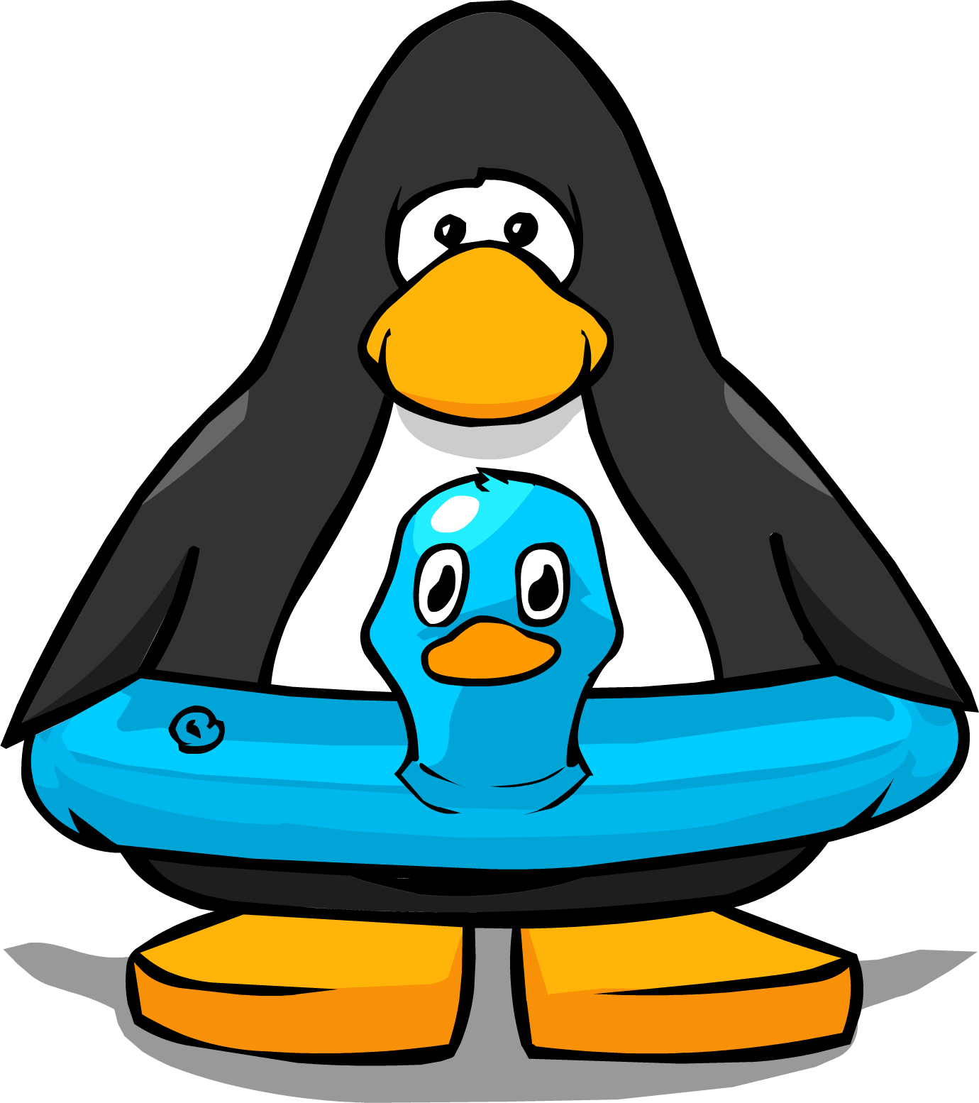 Image blue duck from. Clipart penguin swimming