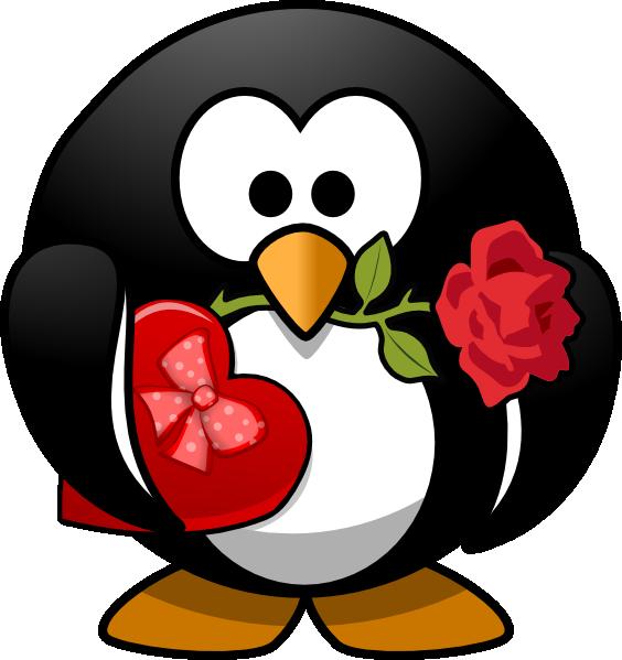 Clip art heart arts. Hearts clipart penguin