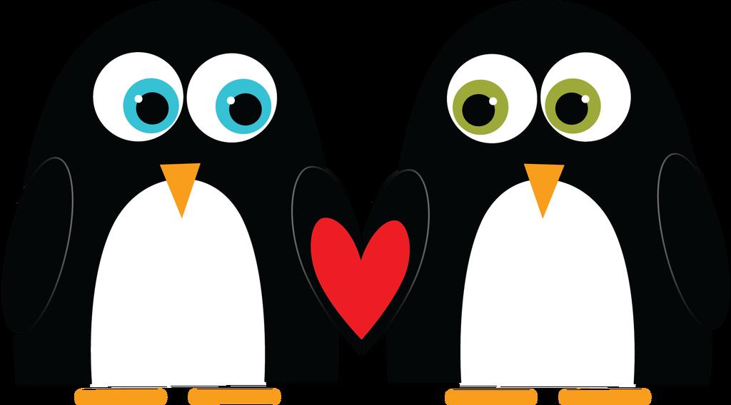 Clipart penguin valentine. Happy s day the