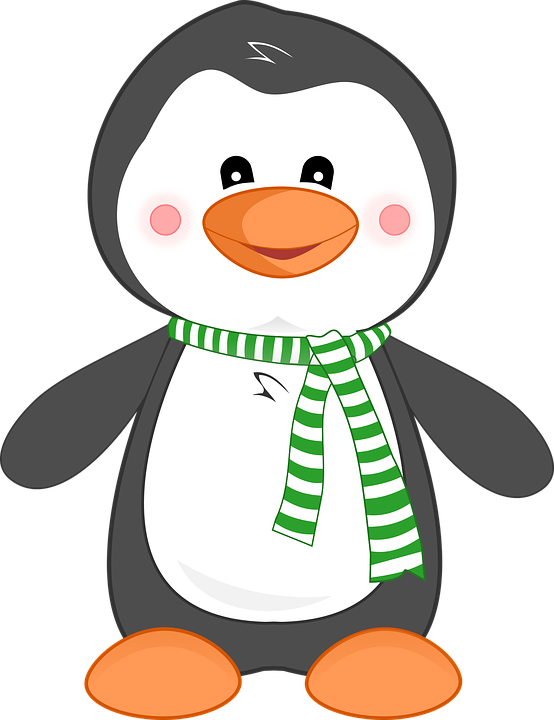 Cartoon free vector graphic. Clipart penquin adorable penguin