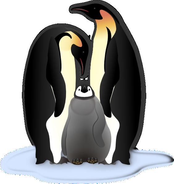 Clipart penquin group penguin. Clip art family vector