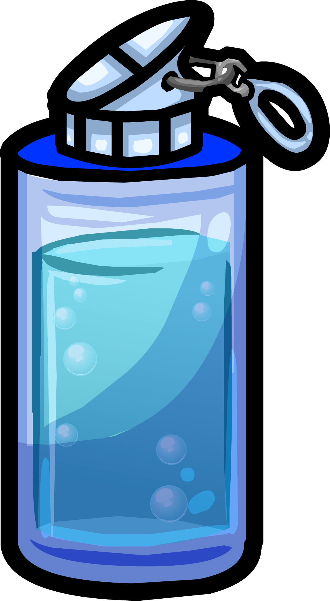 Water clipart h2o. Blue bottle club penguin