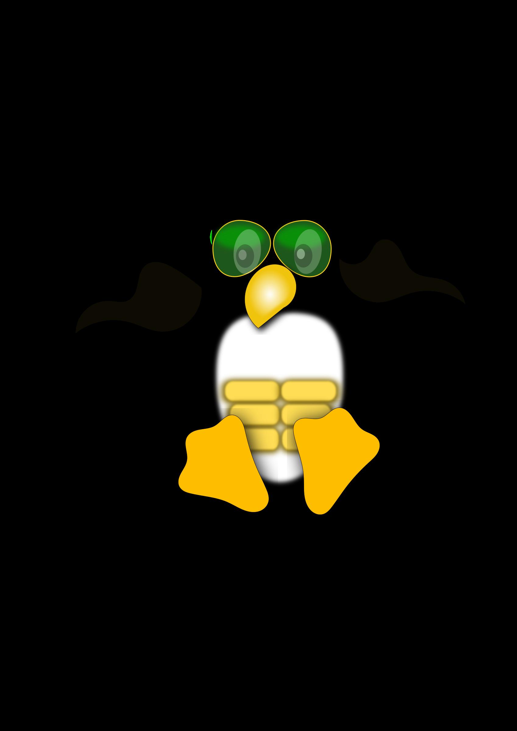 Linux logo big image. Clipart penguin water