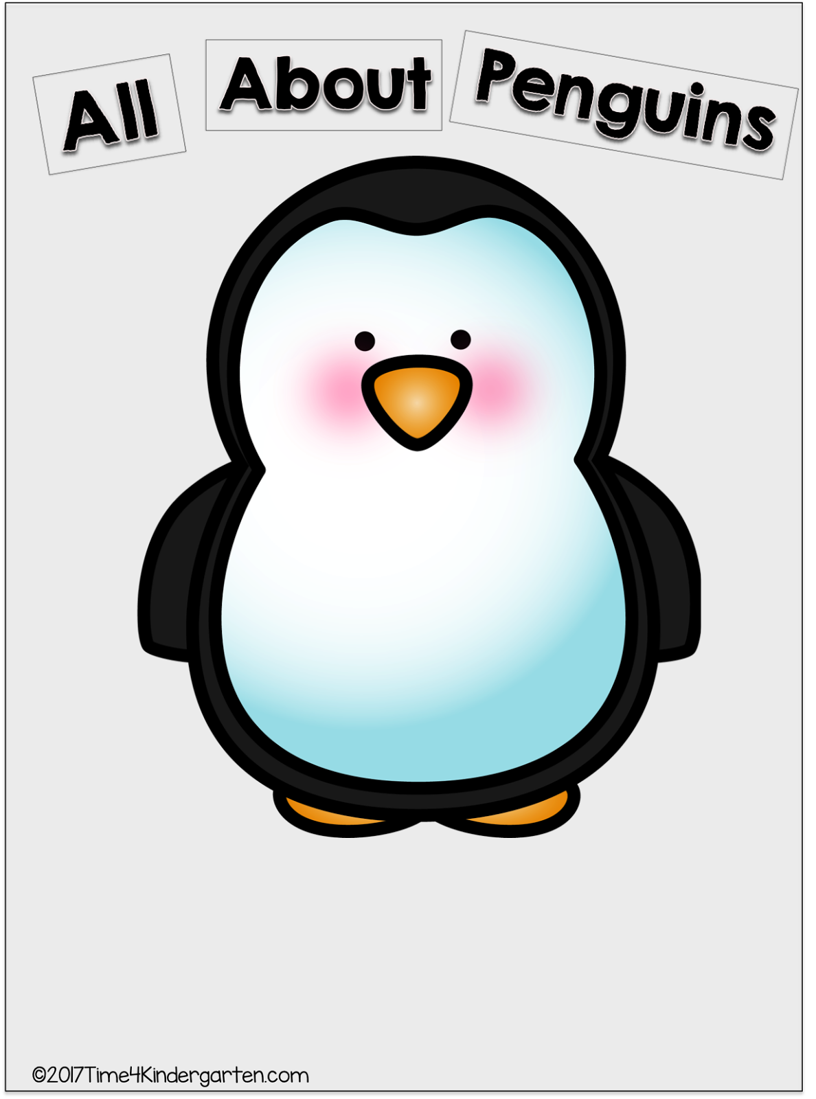 Time kindergarten all about. Clipart penquin 3 animal