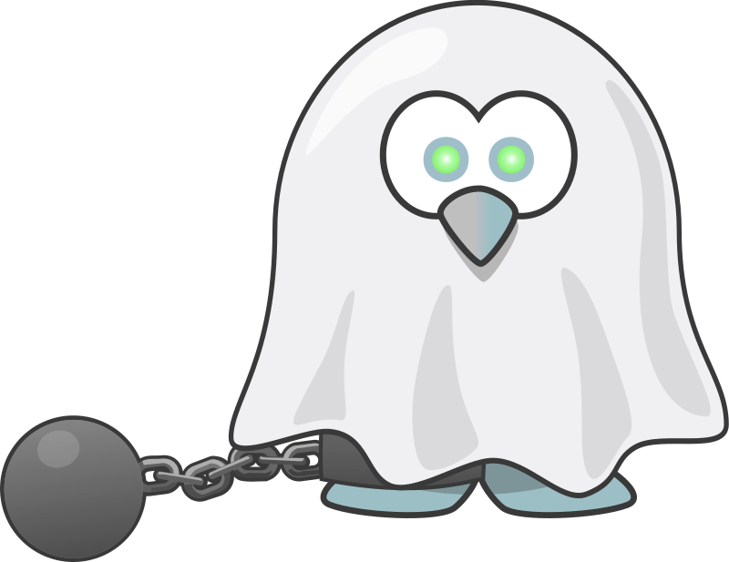 Clipart penquin writing. Ghost of a penguin