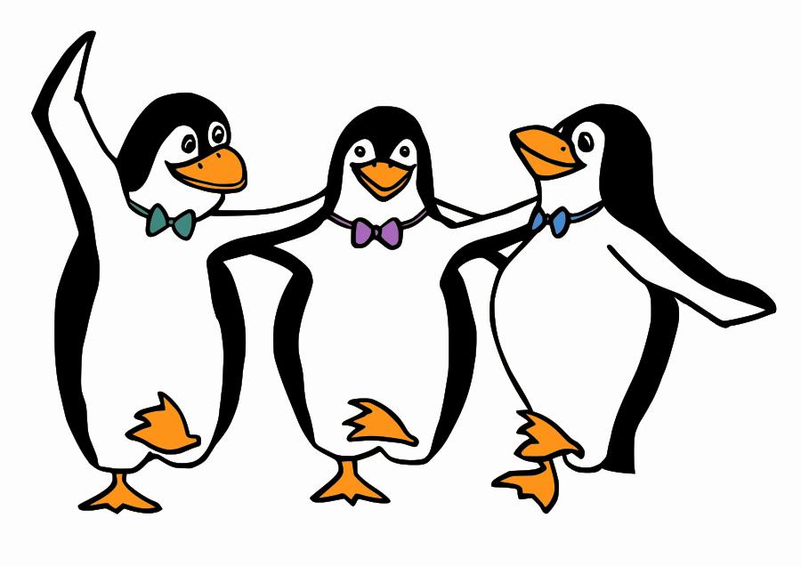 Penguin black and white. Clipart penquin 3 animal