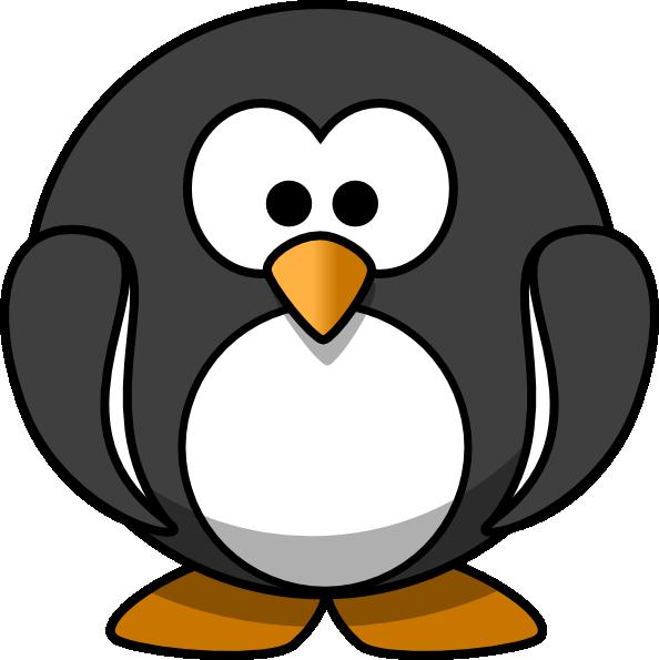 Clipart penquin adorable penguin. Dark grey clip art