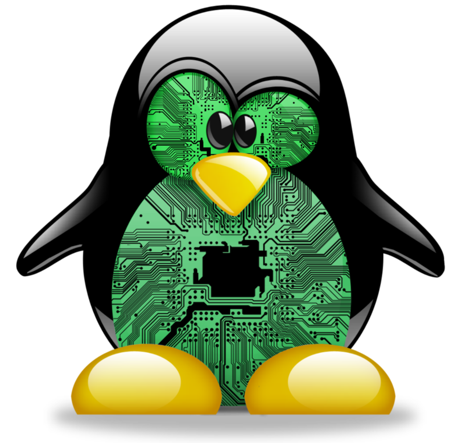 Linux circuit board avatar. Clipart penquin angry penguin