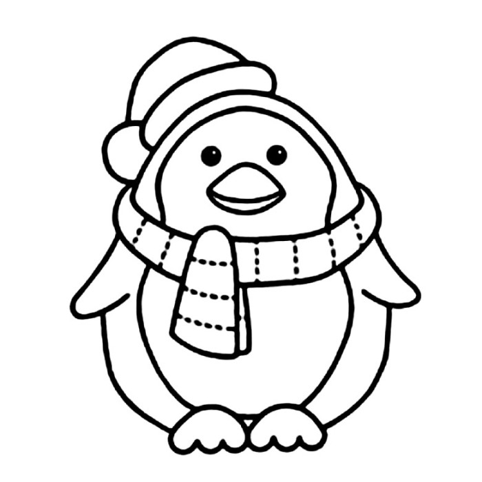 Free cute penguins download. Clipart penquin coloring page