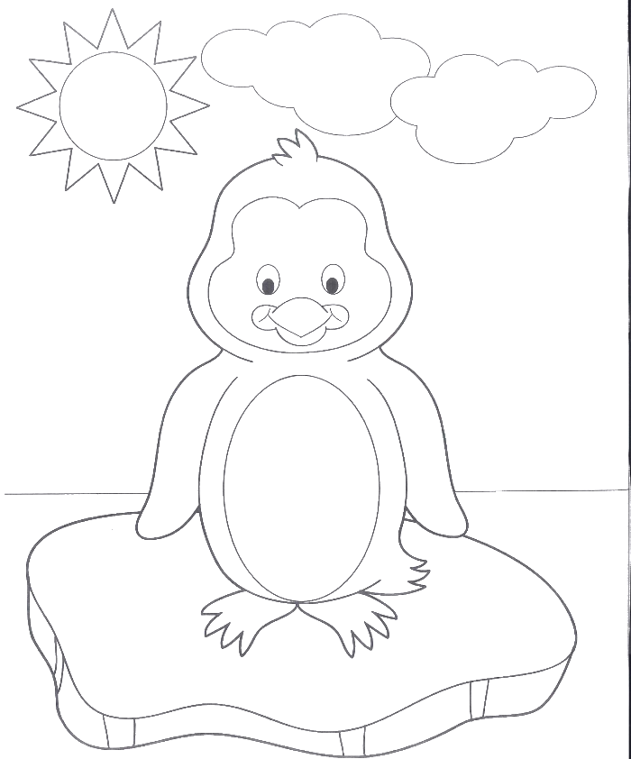 A very cute baby. Walrus clipart coloring page