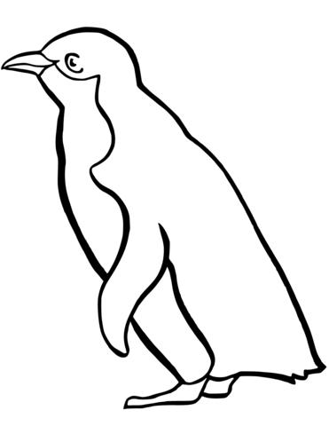 Clipart penquin coloring page. Little blue penguin free