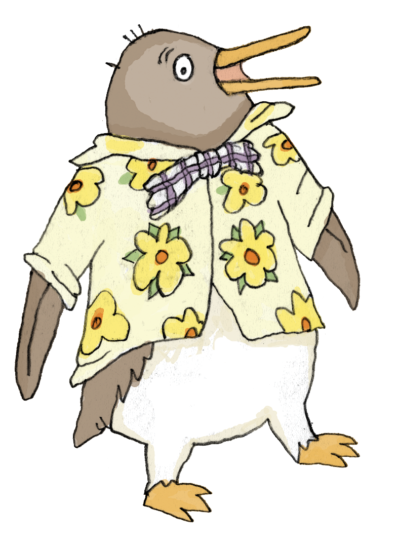 Highest tacky the penguin. Clipart penquin coloring page