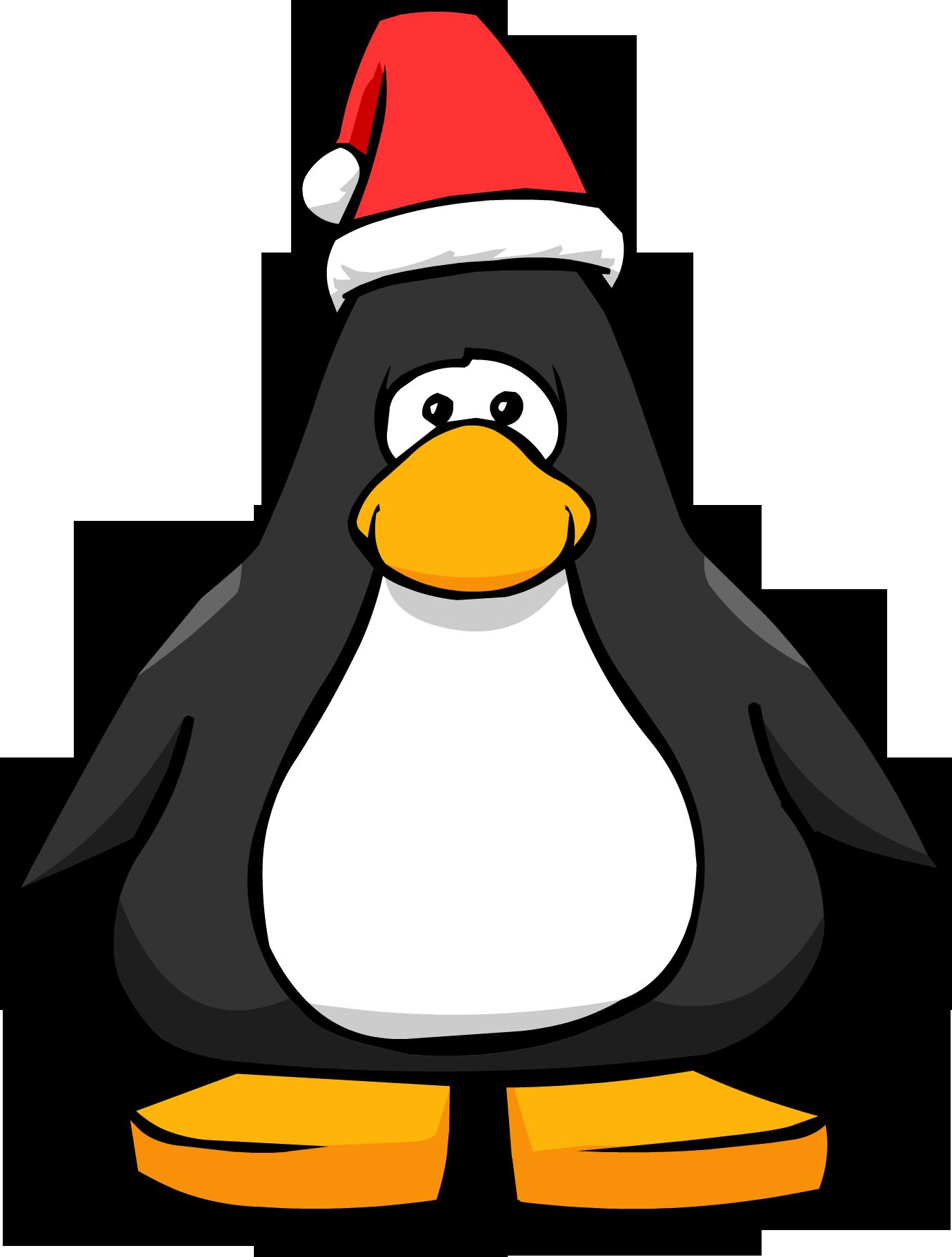 Clipart penquin dancing santa. Image hat player card