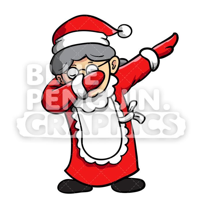 Clipart penquin dancing santa. Mrs dabbing christmas vector