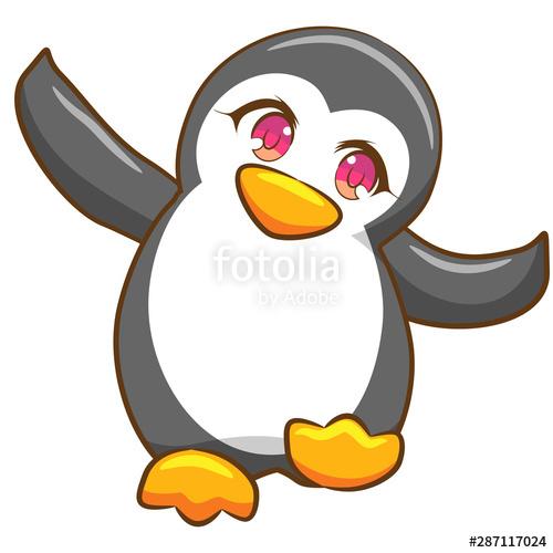 Penguin vector stock image. Clipart penquin design