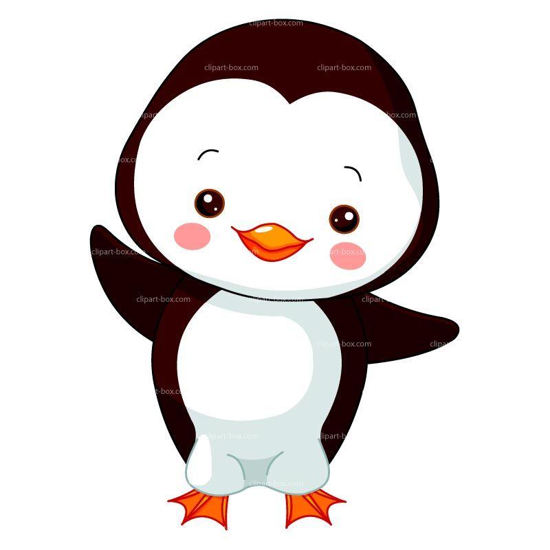 Clipart penquin design. Baby penguin royalty free