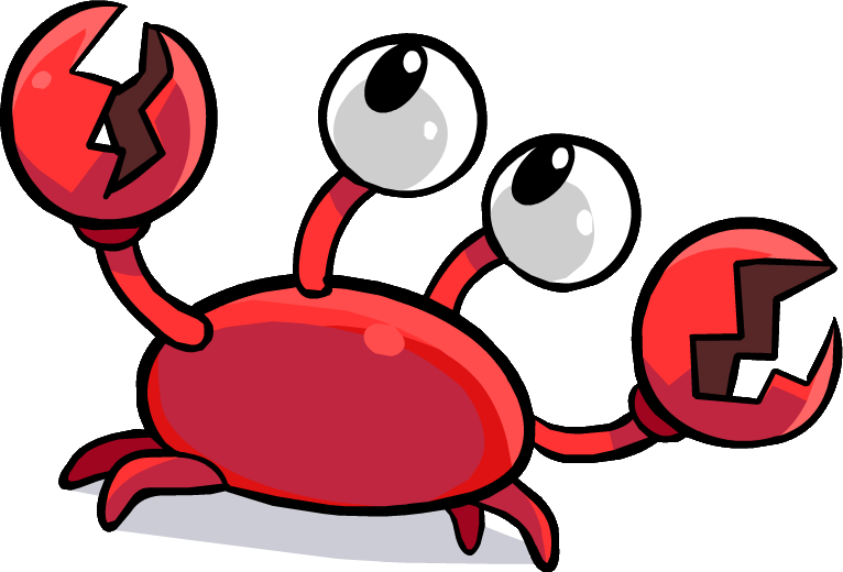 Crabs clipart crab feed. Klutzy the villains wiki