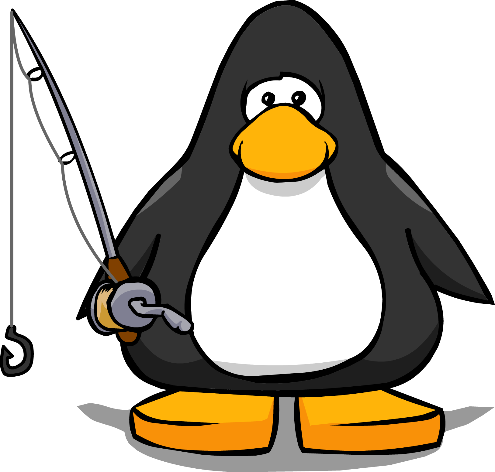 Clipart penquin fishing. Image rod from a