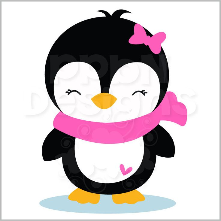 Clipart penquin girly. Christmas penguin free download