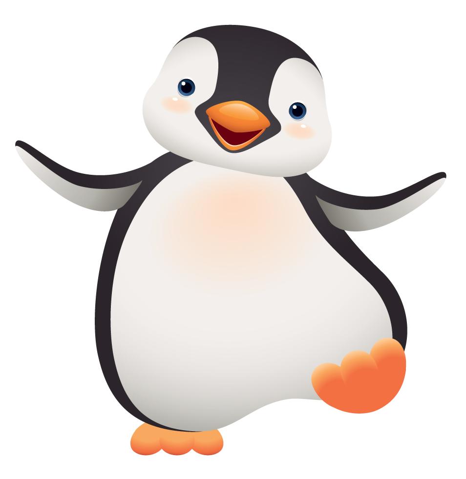 Cartoon images very cute. Clipart penquin group penguin