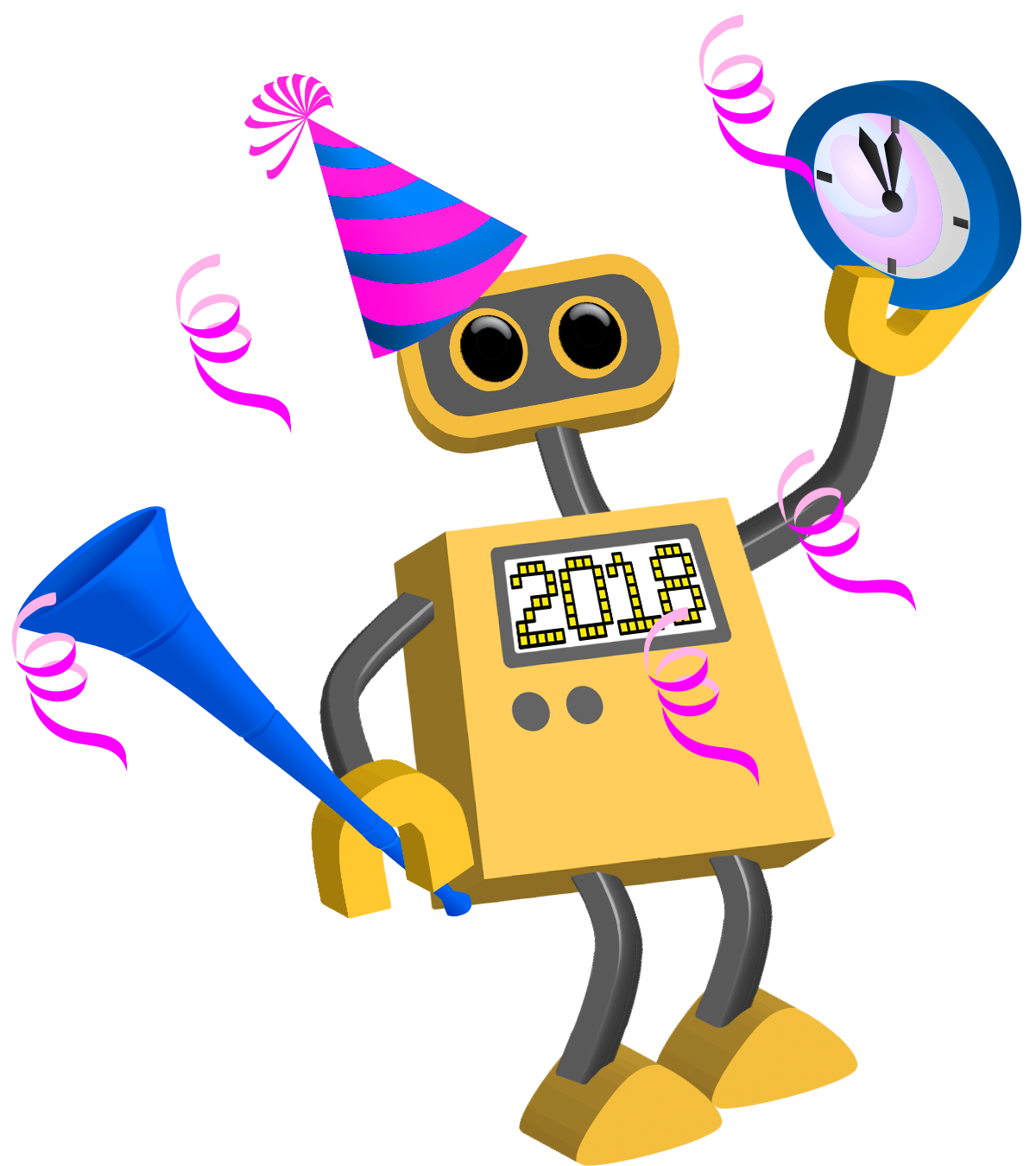cartoon new year. Technology clipart instructional technology