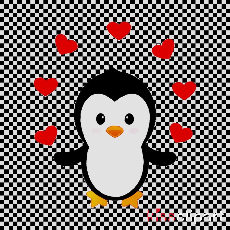 Clipart penquin heart. Love background penguin illustration
