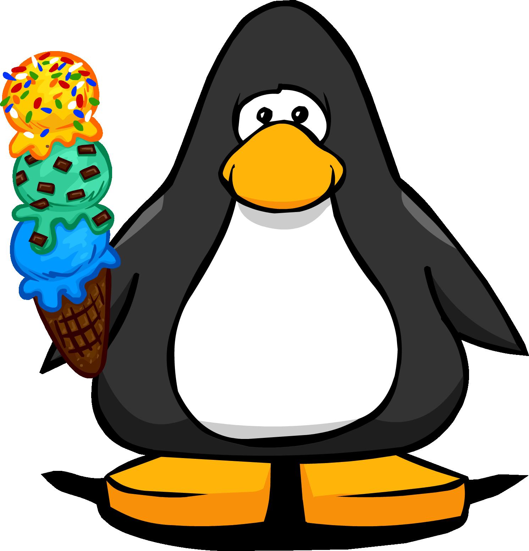 clipart penquin ice cream