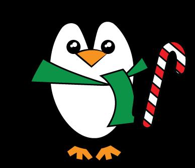 Cute christmas penguin clip. Clipart penquin kid