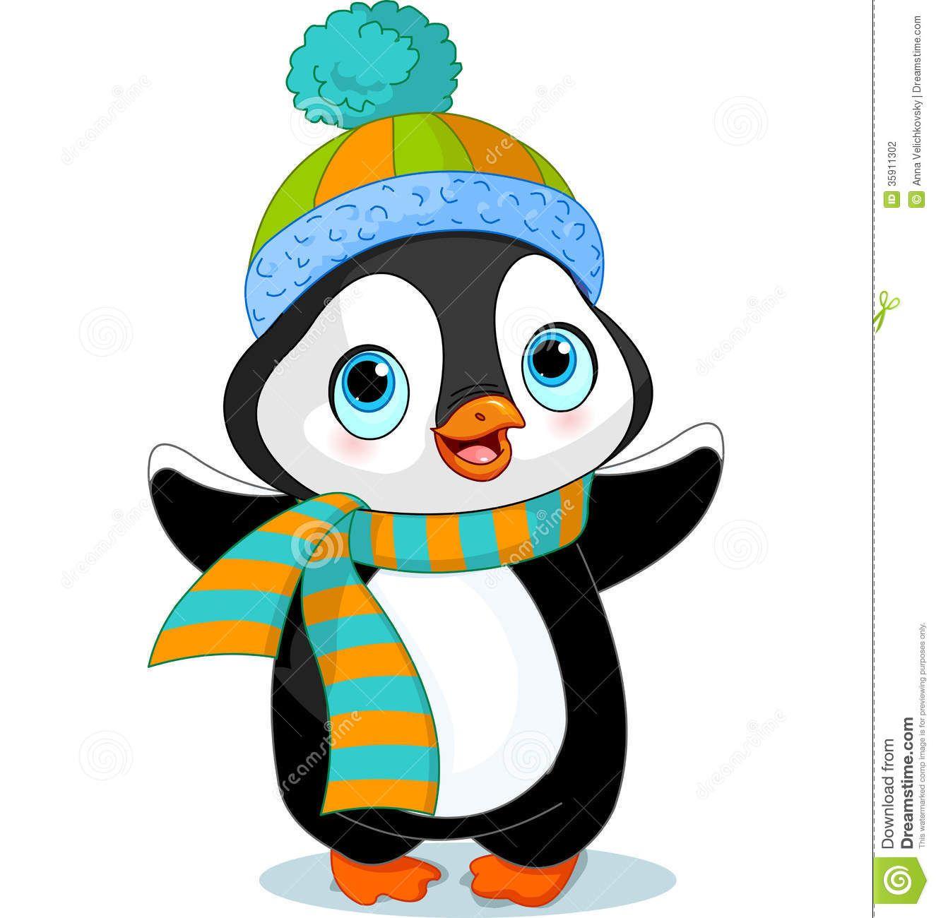 Clipart penquin kid. Winter cartoon clip art