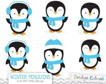 Cute etsy . Clipart penquin little penguin