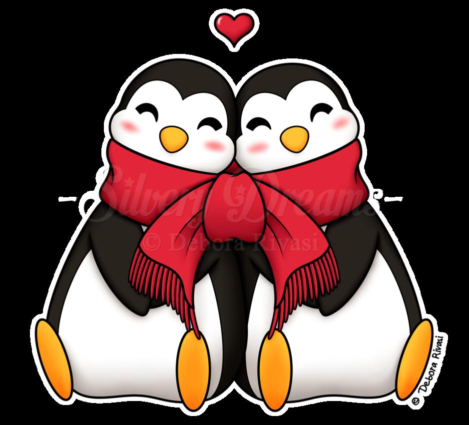 clipart penquin love