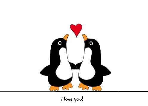 Free penguin cliparts download. Clipart penquin love