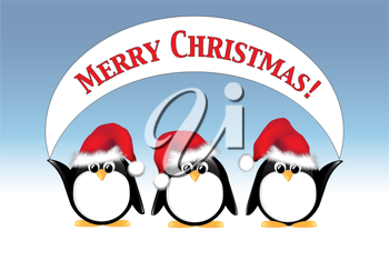 Clipart penquin merry christmas. Royalty free image of