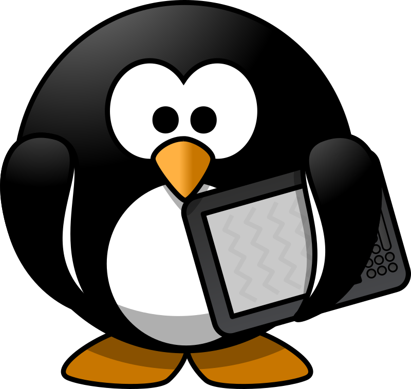 Clipart penquin pencil. Penguin reading clipground