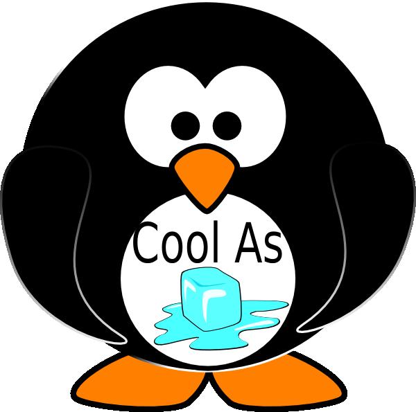 As ice penquin clip. Fridge clipart cool