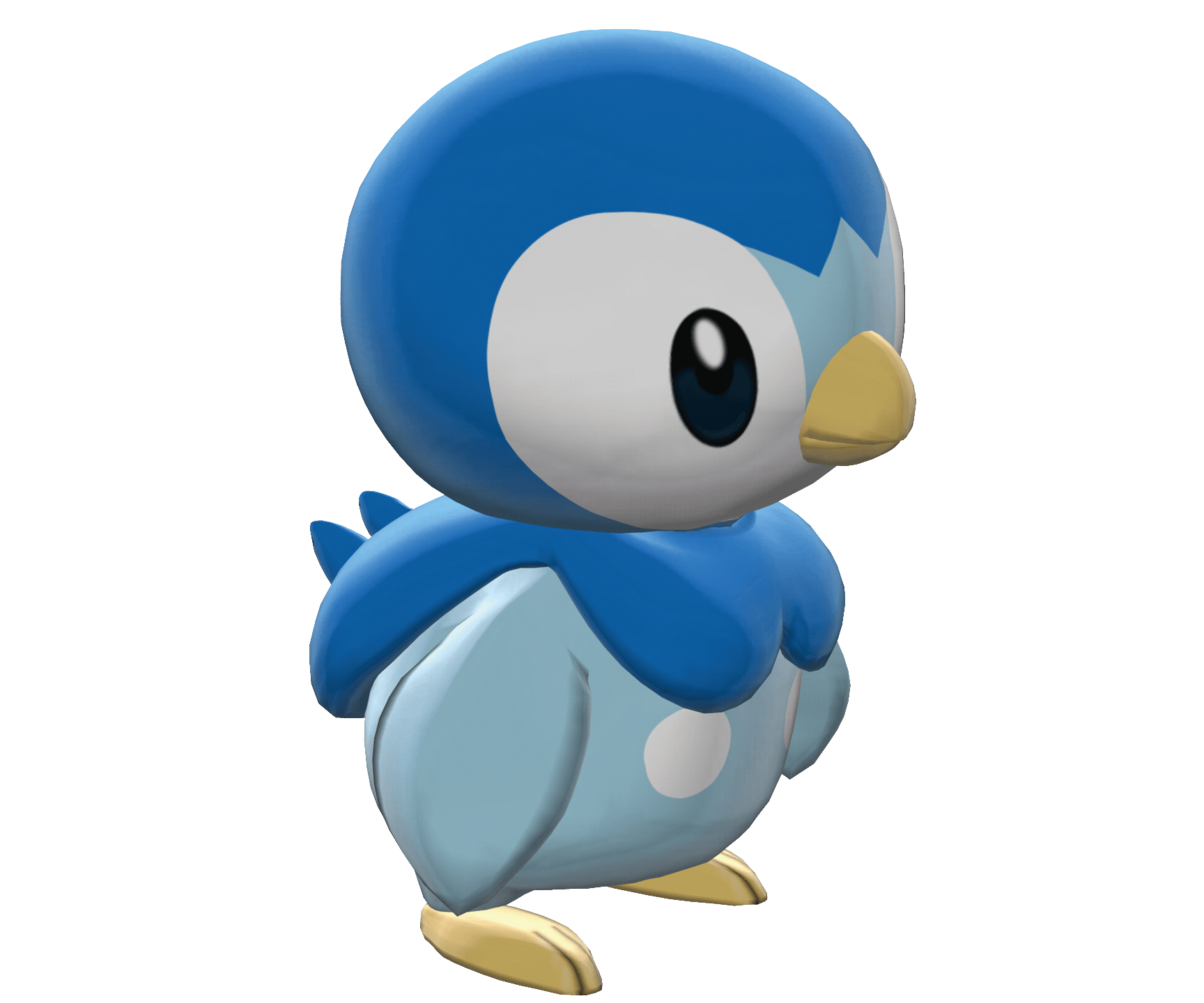 Pokemon clipart bird. Piplup sideview transparent png