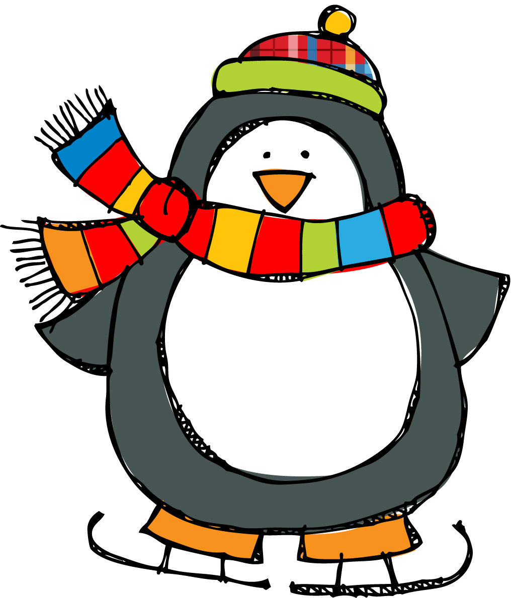 Winter clipart december. Free christmas penguin download