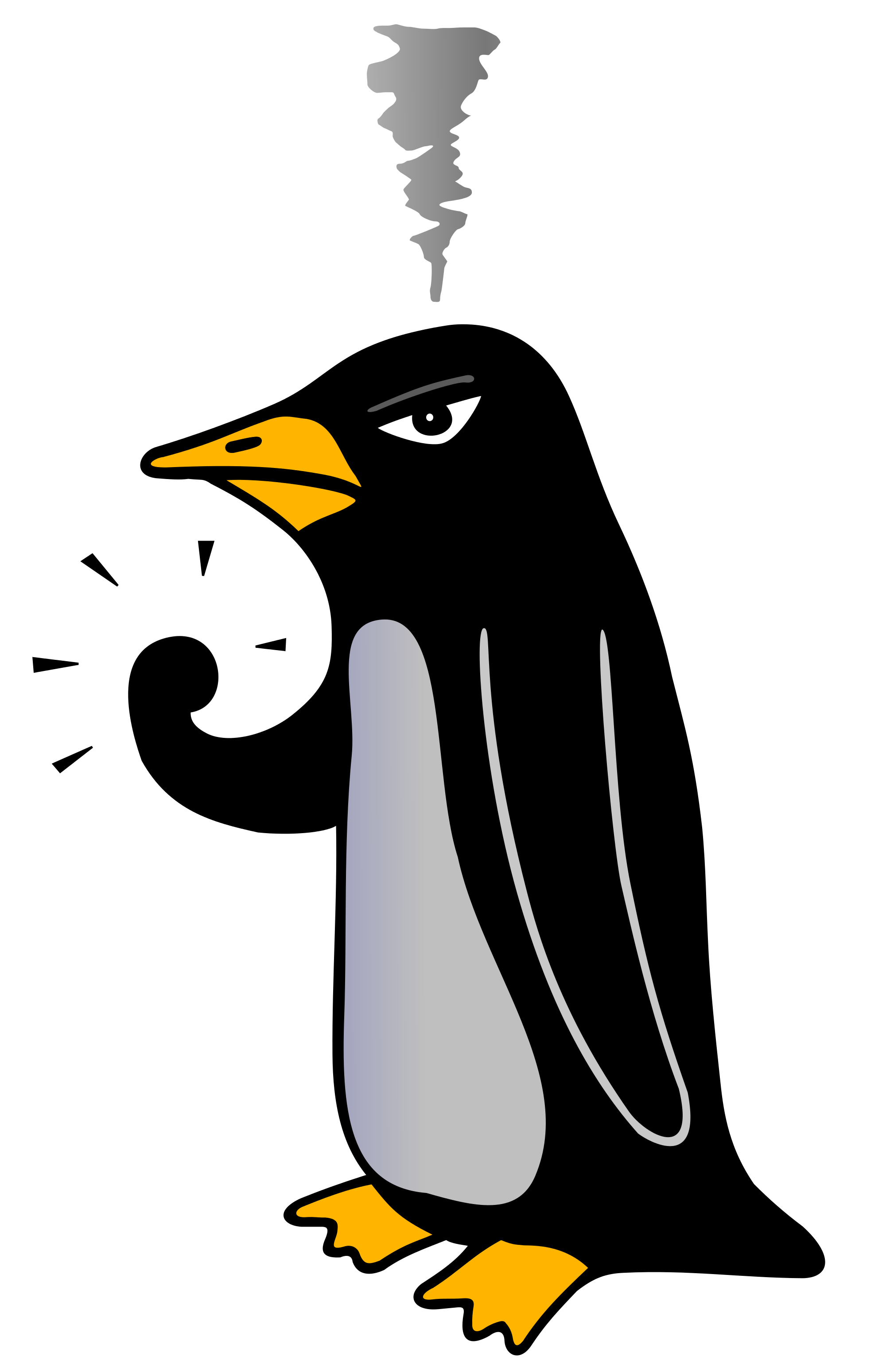 File angry penguin svg. Yelling clipart difficult customer