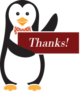 Clipart penquin thank you. For contacting penguin suits