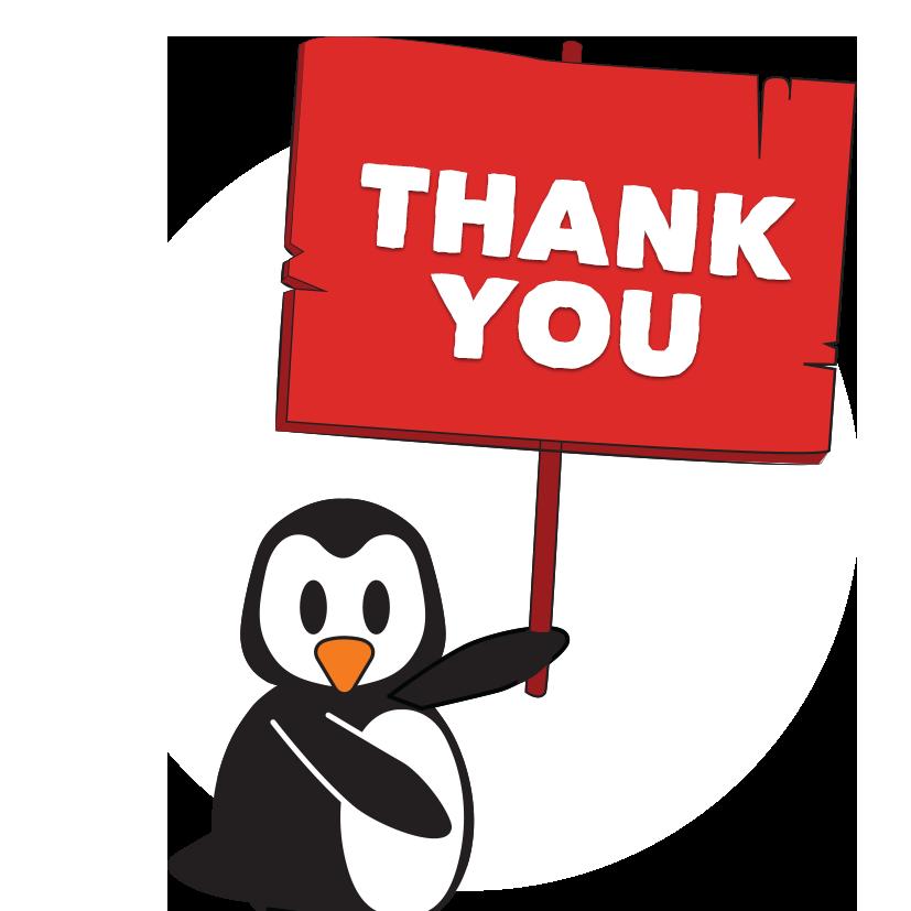 Clipart penquin thank you. Page pengu swim school